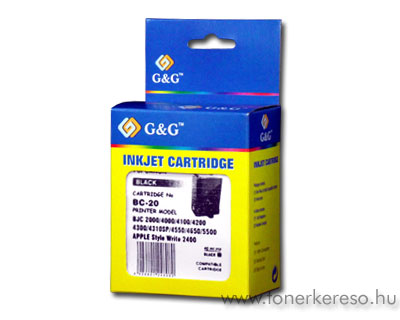 Canon BC-20 fekete tintapatron G&G GGBC20 Canon BJC-2125 tintasugaras nyomtatóhoz
