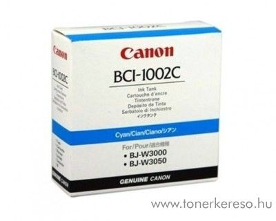 Canon BCI-1002C eredeti cyan tintapatron 5835A001AA Canon BJ-W3050 tintasugaras nyomtatóhoz