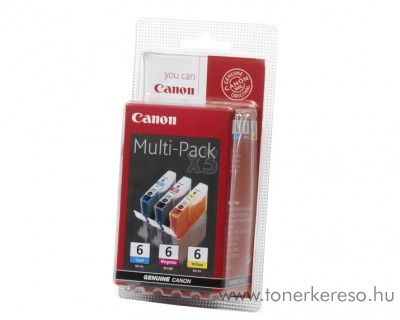 Canon BCI-6CMY eredeti színes tintapatron csomag 4706A022 Canon PIXMA iP6000 tintasugaras nyomtatóhoz