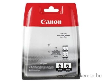 Canon BCI-6EB eredeti black dupla tintapatron csomag 4705A046AA Canon PIXMA iP6100D tintasugaras nyomtatóhoz