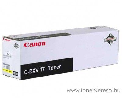 Canon C-EXV17Y eredeti yellow toner 0259B002AA