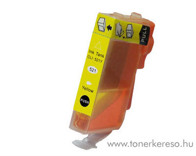 Canon CLI521Y yellow utángyártott tintapatron Canon PIXMA iP4700 tintasugaras nyomtatóhoz