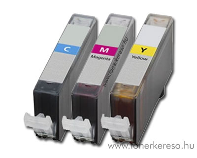 Canon CLI-526 CMY utángyártott multipack patroncsomag chipes OP Canon Pixma iX6550 tintasugaras nyomtatóhoz