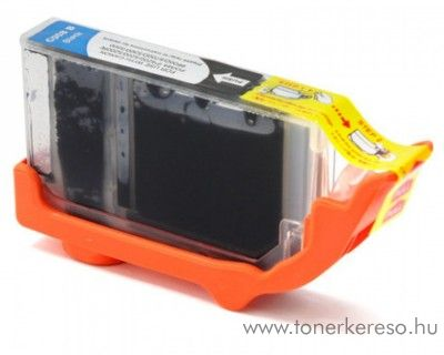 Canon CLI-8 fekete utángyártott tintapatron chipes  Canon PIXMA iP5300 tintasugaras nyomtatóhoz