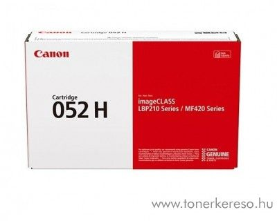 Canon i-SENSYS MF-428x (CRG052H) eredeti black toner 2200C002 Canon i-SENSYS LBP214dw lézernyomtatóhoz