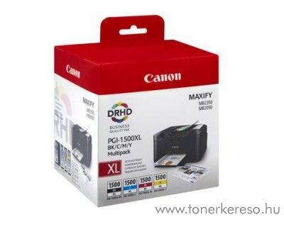 Canon Maxify MB 2050/2350 eredeti CMY-BK tintap. PGI1500XLCMYBK Canon Maxify MB2755 tintasugaras nyomtatóhoz