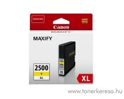 Canon Maxify MB 5050/5350 eredeti yellow tintapatron PGI2500XLY Canon MAXIFY MB5150 tintasugaras nyomtatóhoz