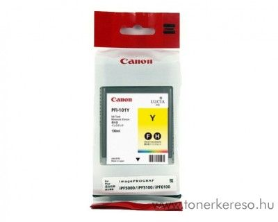 Canon PFI-101Y eredeti yellow tintapatron 0886B001AA