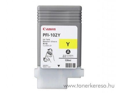 Canon PFI-102Y eredeti yellow tintapatron 0898B001AA Canon imagePROGRAF iPF755 tintasugaras nyomtatóhoz