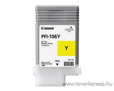 Canon PFI-106Y eredeti yellow tintapatron 6624B001AA Canon imagePROGRAF iPF6300S tintasugaras nyomtatóhoz