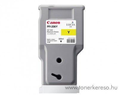 Canon PFI-206Y eredeti yellow tintapatron 5306B001AA Canon imagePROGRAF iPF6450 tintasugaras nyomtatóhoz