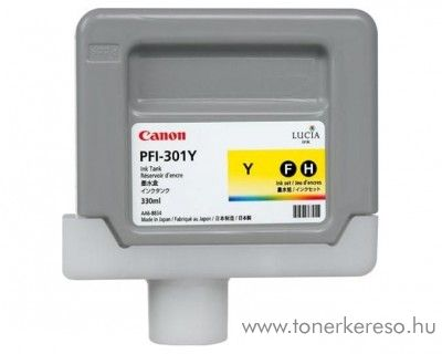 Canon PFI-301Y eredeti yellow tintapatron 1489B001AA Canon imagePROGRAF 8000 tintasugaras nyomtatóhoz
