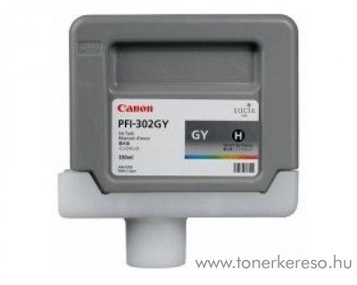 Canon PFI-302GY eredeti grey tintapatron 2217B001AA Canon imagePROGRAF iPF9100 tintasugaras nyomtatóhoz