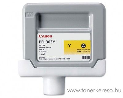 Canon PFI-303Y eredeti yellow tintapatron 2961B001AA