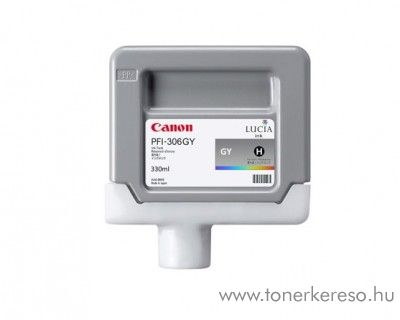 Canon PFI-306GY eredeti grey tintapatron 6666B001AA Canon imagePROGRAF iPF8300S tintasugaras nyomtatóhoz