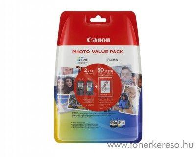 Canon PG540XL/CL541XL eredeti multipack + 50 fotópapír 5222B013 Canon PIXMA MG3200 tintasugaras nyomtatóhoz