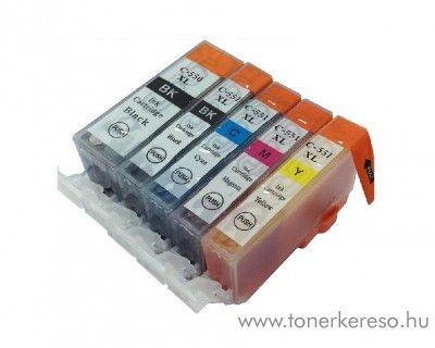 Canon PGI550/CLI551 XL 5db-os utángyártott tintapatron csomag Canon PIXMA MG6350 tintasugaras nyomtatóhoz