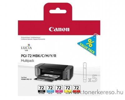 Canon PGI-72 MBK/C/M/Y/R eredeti tintapatron csomag 6402B009 Canon PIXMA Pro 10 tintasugaras nyomtatóhoz