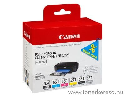 Canon PIXMA iP8750 eredeti tintapatron csomag CCLI550551MP6  Canon PIXMA iP8750  tintasugaras nyomtatóhoz