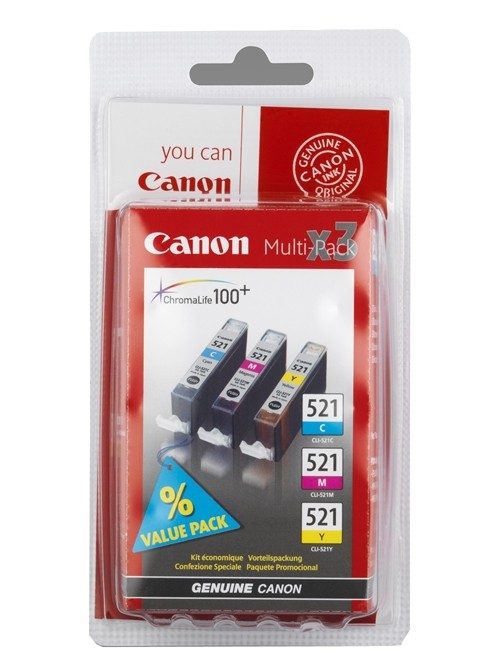 Canon CLI 521CMY Multipack Canon Pixma MP980 tintasugaras nyomtatóhoz