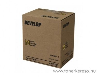 Develop ineo+ 3110 (TNP51Y) eredeti yellow toner A0X52D5
