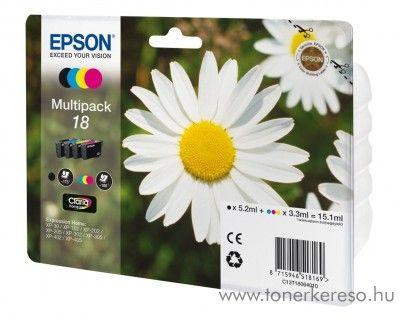 Epson 18 T1806 eredeti multipack tintapatron csomag C13T18064010 Epson Expression Home XP-212 tintasugaras nyomtatóhoz