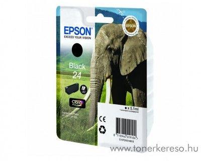 Epson 24 T2421 eredeti fekete black tintapatron C13T24214010 Epson Expression Photo XP-55 tintasugaras nyomtatóhoz