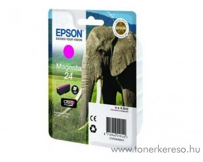 Epson 24 T2423 eredeti magenta tintapatron C13T24234010 Epson Expression Photo XP-850 tintasugaras nyomtatóhoz