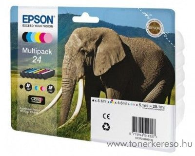 Epson 24 T2428 eredeti multipack tintapatron C13T24284010 Epson Expression Photo XP-750 tintasugaras nyomtatóhoz