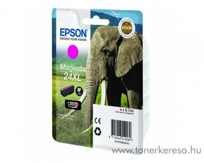 Epson 24XL T2433 eredeti magenta tintapatron C13T24334010 Epson Expression Photo XP-750 tintasugaras nyomtatóhoz