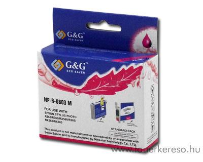 Epson Photo R265/R360/RX560 magenta tintapatron GGT0803M Epson Stylus Photo RX585 tintasugaras nyomtatóhoz