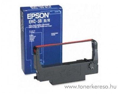 Epson ERC38 B/R eredeti fekete-piros szalag C43S015376 Epson M-262A mátrixnyomtatóhoz