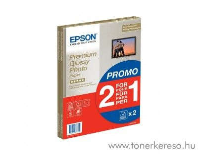 Epson fotópapír A4 2 x 15 lap 255g Premium Glossy Photo