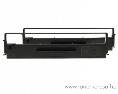 Epson LQ350 eredeti fekete dupla szalag pack C13S015646 Philips P2123  mátrixnyomtatóhoz