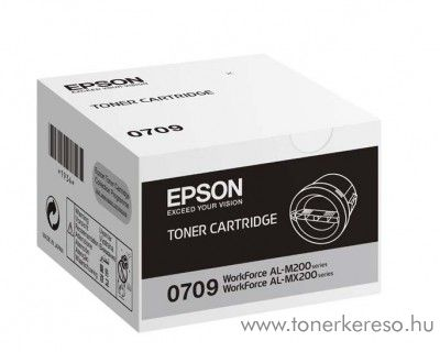 Epson M200, MX200 eredeti fekete black toner C13S050709 Epson WorkForce AL-M200DW lézernyomtatóhoz