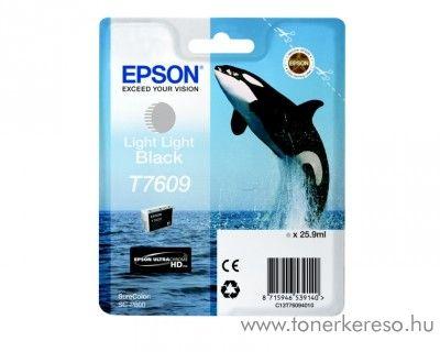 Epson SC-P600 eredeti light light black tintapatron C13T76094010 Epson SureColor SC-P600 tintasugaras nyomtatóhoz