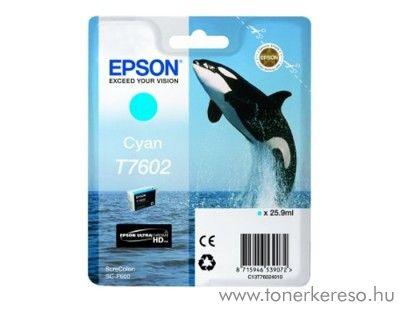 Epson SC-P600 eredeti cyan tintapatron C13T76024010 Epson SureColor SC-P600 tintasugaras nyomtatóhoz
