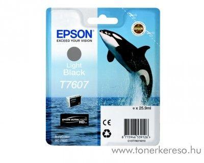 Epson SC-P600 eredeti light black tintapatron C13T76074010 Epson SureColor SC-P600 tintasugaras nyomtatóhoz