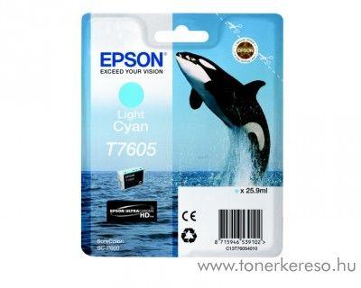 Epson SC-P600 eredeti light cyan tintapatron C13T76054010 Epson SureColor SC-P600 tintasugaras nyomtatóhoz