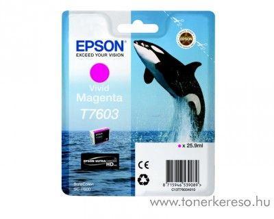Epson SC-P600 eredeti magenta tintapatron C13T76034010