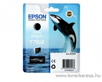 Epson SC-P600 eredeti matt black tintapatron C13T76084010 Epson SureColor SC-P600 tintasugaras nyomtatóhoz