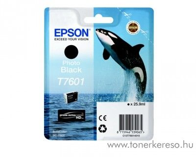 Epson SC-P600 eredeti photo black tintapatron C13T76014010