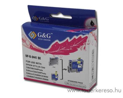 Epson C64/C84/CX6400 fekete tintapatron G&G GGT044B Epson Stylus C86 tintasugaras nyomtatóhoz