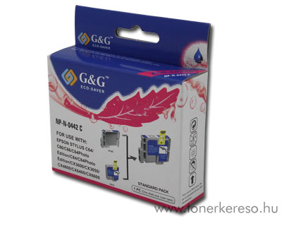 Epson C64/C84/CX6400 cyan tintapatron G&G GGT044C Epson Stylus C86 tintasugaras nyomtatóhoz