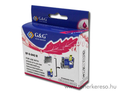 Epson C64/C84/CX6400 magenta tintapatron G&G GGT044M