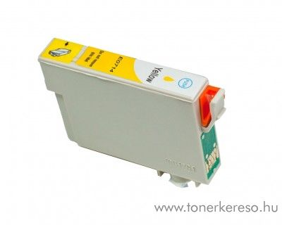 Epson T0714 yellow utángyártott tintapatron OB Epson Stylus D78 tintasugaras nyomtatóhoz