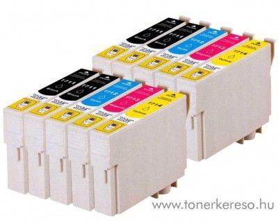 Epson T071X 10 db-os utángyártott patroncsomag (10 multipack) Epson Stylus DX8400 tintasugaras nyomtatóhoz