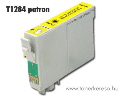 OP Epson T1284 yellow utángyártott tintapatron (SX130/SX425) Epson Stylus SX445W tintasugaras nyomtatóhoz