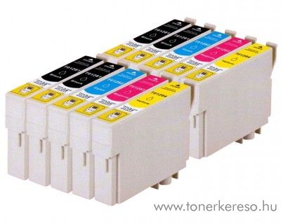 Epson T128X 10 db-os utángyártott patroncsomag (10 multipack) Epson Stylus SX130 tintasugaras nyomtatóhoz