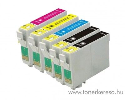 Epson T128X 5 db-os utángyártott tintapatron csomag Epson Stylus SX230 tintasugaras nyomtatóhoz